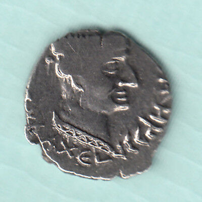 India NAHAPANA Dynasty 2000 Years Old Extremely RARE Silver Ancient Coin 23