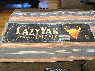 Lazyyak Pale Ale Beer Mat New