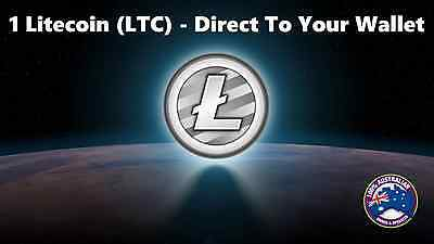 1 Litecoin (LTC) Mined Litecoin - Direct To Your Wallet - By Crypto Coin Shop
