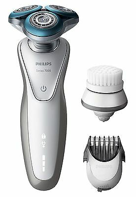 Philips S7530/50 Series 7000 Electric Shaver with Trimmer and Exfoliation Brush