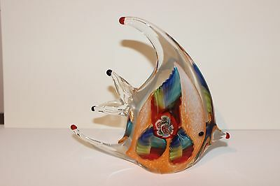 Glass Fish Ornament with Murano style detail