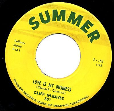 LOVE IS MY BUSINESS CLIFF GLEAVES *Hot Rockabilly*