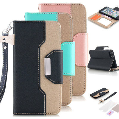 Luxury Leather Flip Wallet Stand Phone Case Cover for iPhone X 7 8 Plus 6s Plus
