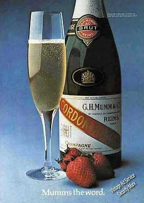 """1977 """"Mumm's The Word."""" Cordon Rouge Champagne Ad"""