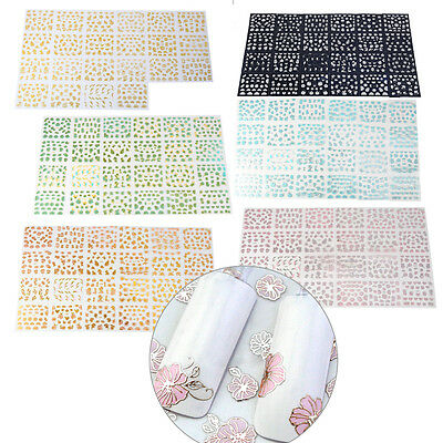24 Sheet 3D Nail Art Waterproof Stickers Design Manicure Decal Decoration Tips