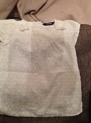 White Tunic Top With Navy Leggings 11/2-2 Yrs