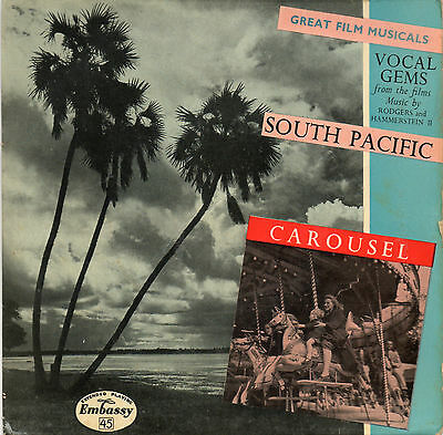 """Great Film Musicals South Pacific & Carousel Vinyl 7""""  Ep Pic Slv Embassey Pink"""
