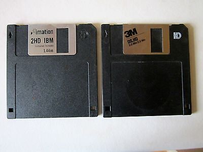 "MIXED USED IMATION, PC Line & 3M  3.5"" 2 HD DISKETTES / FLOPPY DISCS / 10 PACK"