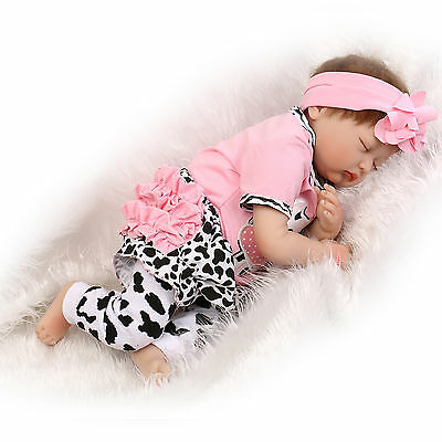 "22"" Newborn Baby Clothes Reborn Doll Girl Clothes Pink Cow - NOT Included Doll"