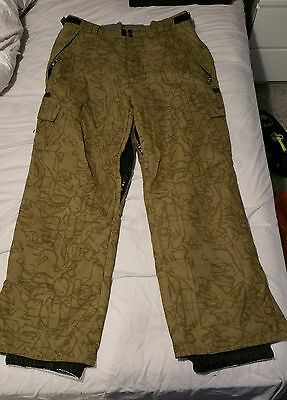 Rehall Snowboarding Pants Trousers Salopettes XL Adjustable Size