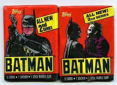 Batman Movie Series 2 - 7 Sealed Packs - Topps - 1989