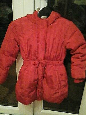 M&S childrens thick winter coat age 6 - 7 Hot pink