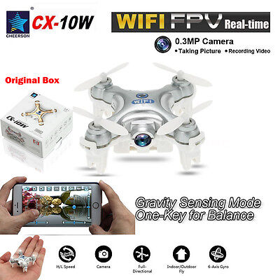Cheerson Mini CX-10W 2.4Ghz 6-Axis Gyro RC Quadcopter with HD Camera Wifi Drone