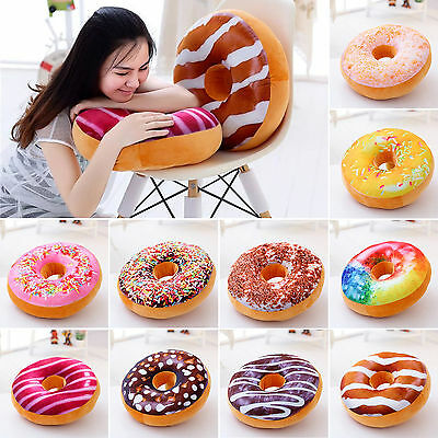 3D Plush Donut Food Cover Toys Donut Sweet Pillow Case Without Core Xmas Decor