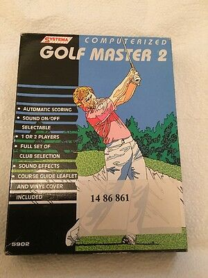 VINTAGE SYSTEMA COMPUTERISED GOLF MASTER 2 HANDHELD ELECTRONIC 1990's GAME