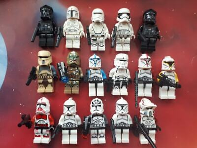 STAR WARS Mini figures: 17 x Clone Trooper Figures & Rifles Fits LEGO
