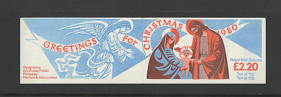 Gb 1980 - Christmas Fx3 Booklet £2.20 ( Error ) On Stamps