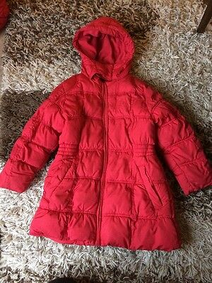 NEXT Girls Red Coat With Hood 5-6years