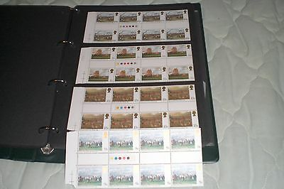 Great Britain Stamps-Horse Racing Gutter Pairs Traffic Lights 4 Mint Sets