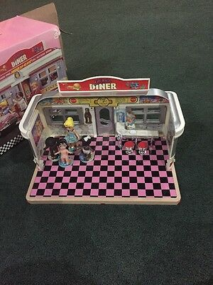 Dixies Diner Playset Dolls Some Accessories Magnet Metal Toy Seats