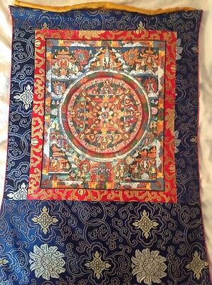 Tibetan Buddhist Painted Printed On Cloth Thanka Painting