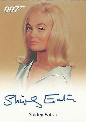 "James Bond Quotable - Shirley Eaton ""Jill"" Case Topper Autograph Card (Unsealed)"