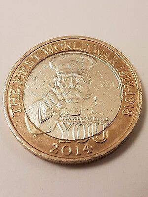 Lord Kitchener £2 - RARE Royal Mint Error - First World War Two Pound Coin