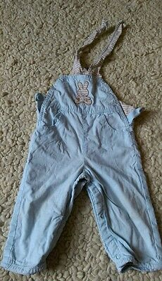 Benetton Baby Blue Dungarees (4-6 months)