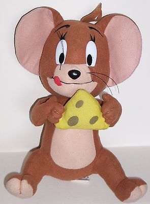 """Tom and Jerry WB Jerry The Mouse Large Plush 13"""" Sitting With Piece Of Cheese"""