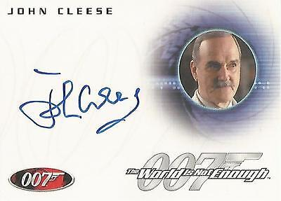 "James Bond Heroes & Villains - A125 John Cleese ""Q"" Autograph Card"