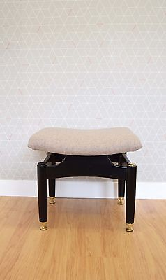 G Plan Librenza Re -Upholstered Stool / Footstool Vintage Retro 1960s 1970s