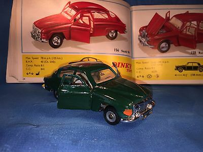 Dinky Toy by Meccano No156 Saab 96 1966 to 1970