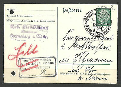 Stamps Postcard Germany Reich Postal History Nice Lot Rrr Wb88