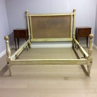 Painted Cane Low Ended Kingsize French Bed.  Ref a13876