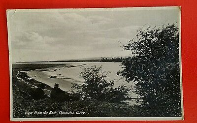 VINTAGE POSTCARD - VIEW FROM THE ROCK, CONNAH'S QUAY - Early 1900's.