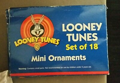 Looney Tunes Christmas Mini Ornaments Set of 18, Bugs, Tweety, Sylvester etc.!