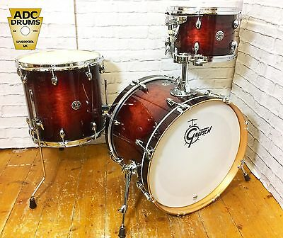 Gretsch Catalina Club Gloss Antique Burst Drum Kit  with EVANS Calftone Heads!