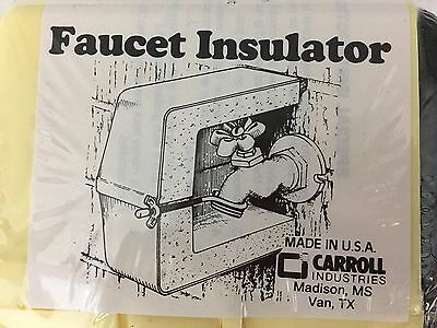 Thermo Faucet Cover Insulation Protects Against Freeze Reusable Easy to Install