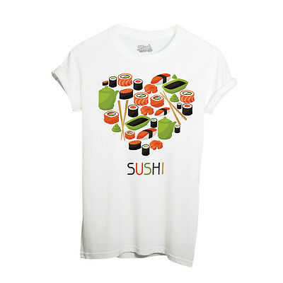 T-Shirt SUSHI LOVE CUORE - DIVERTENTE by iMage