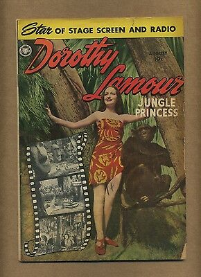 Dorothy Lamour #3 (FRG) Fox Features 1950 Golden Age Comic Wood Photo (c#11792)