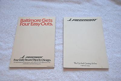 Piedmont Airlines Airways Notepads Approx 12.5 X 17.5 Cms