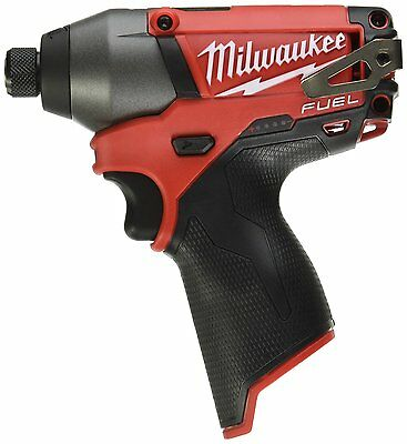 "Milwaukee 2453-20 M12 12V 12 Volt Fuel 1/4"" Hex Impact Driver Cordless NEW Bare"