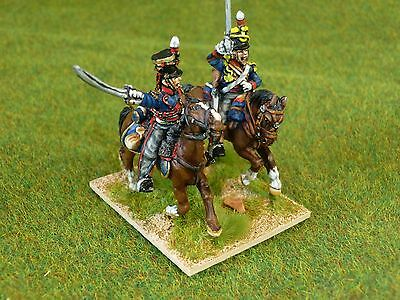 17) 28mm Foundry Painted Napoleonic KGL Light Dragoons x2