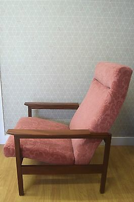 Afromosia Wooden Framed Chair Vintage Retro 1960s 1970s