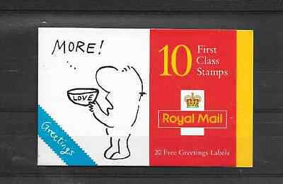 GB 1996 Greetings Stamps Barcode Booklet - KX 8
