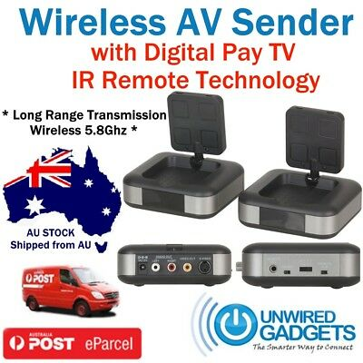 NEW Foxtel IQ2 Wireless AV Sender Audio Video Transmitter Receiver New PayTV