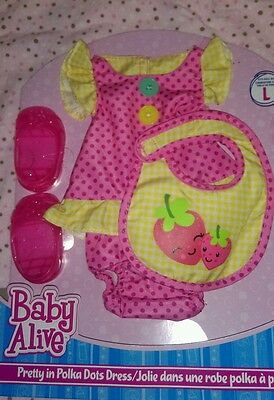 New Baby alive fashion L pretty in polka dots go bye bye real surprises large