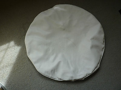 ROVER  P6 V8 spare wheel BOOT MOUNT cover.  WHITE.  Unused.