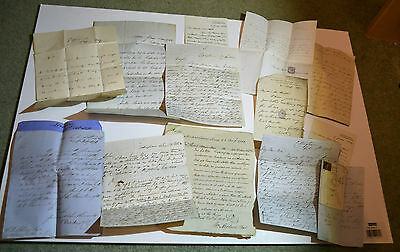 13 Antique Letters Dated From 1832 to 1884