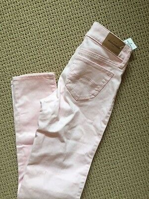 NWT pink Abercrombie & Fitch Kids girl's pants Jeans size 12 NEW WITH TAGS